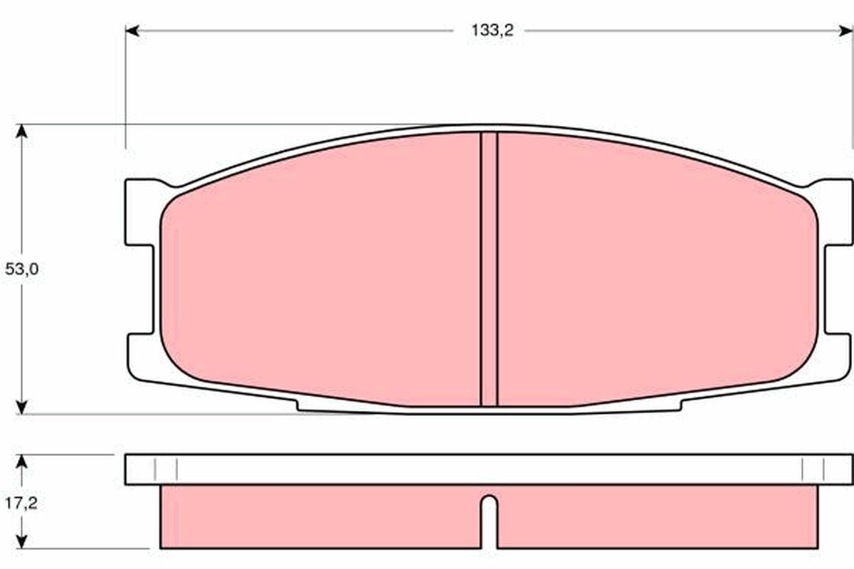 TRW Zestaw klocków hamulcowych, hamulce tarczowe do MITSUBISHI - numer produktu: GDB1022