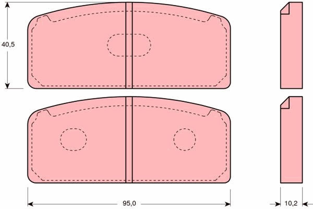 Achetez Jeu de plaquettes de frein TRW GDB109 (Hauteur: 40,5mm, Épaisseur: 10,2mm) à un rapport qualité-prix exceptionnel