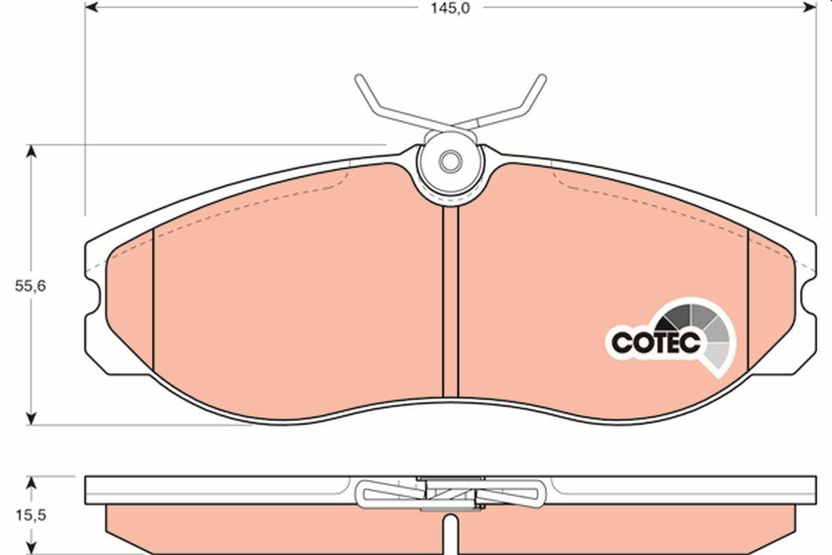 Buy original Brake pad set TRW GDB1113