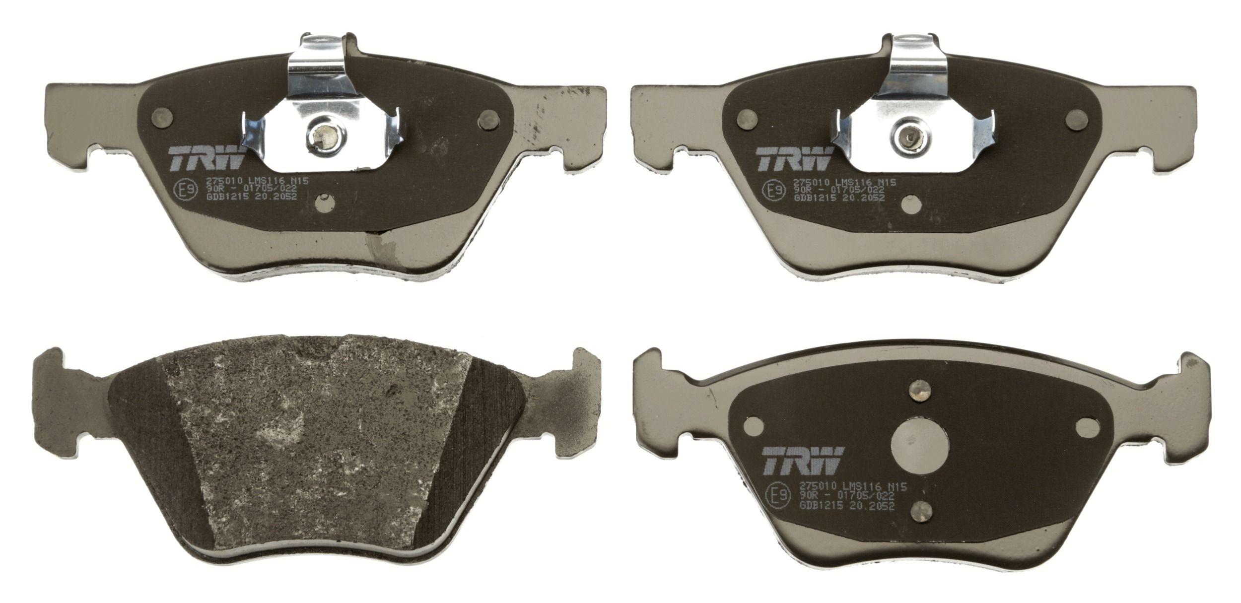 GDB1215 Bremsbelagsatz, Scheibenbremse TRW Test