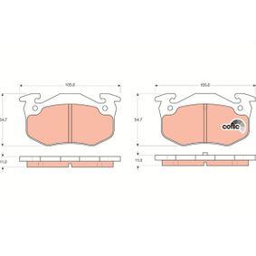 GDB1305 Bremsbelagsatz, Scheibenbremse TRW - Markenprodukte billig