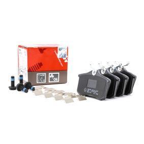 Køb 20961 TRW COTEC Ikke forberedt til slidindikator, med bremsecaliperskruer, med tilbehør Höhe: 52,9mm, Dicke/Stärke: 17,0mm Bremseklodser GDB1330 billige