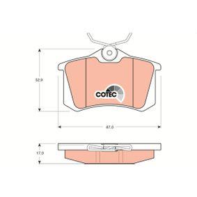 GDB1330 Zestaw klocków hamulcowych, hamulce tarczowe TRW - Doświadczenie w niskich cenach
