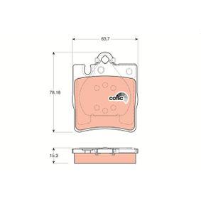 21899 TRW COTEC für Verschleißwarnanzeiger vorbereitet Höhe: 78,2mm, Dicke/Stärke: 15,3mm Bremsbelagsatz, Scheibenbremse GDB1334 günstig kaufen