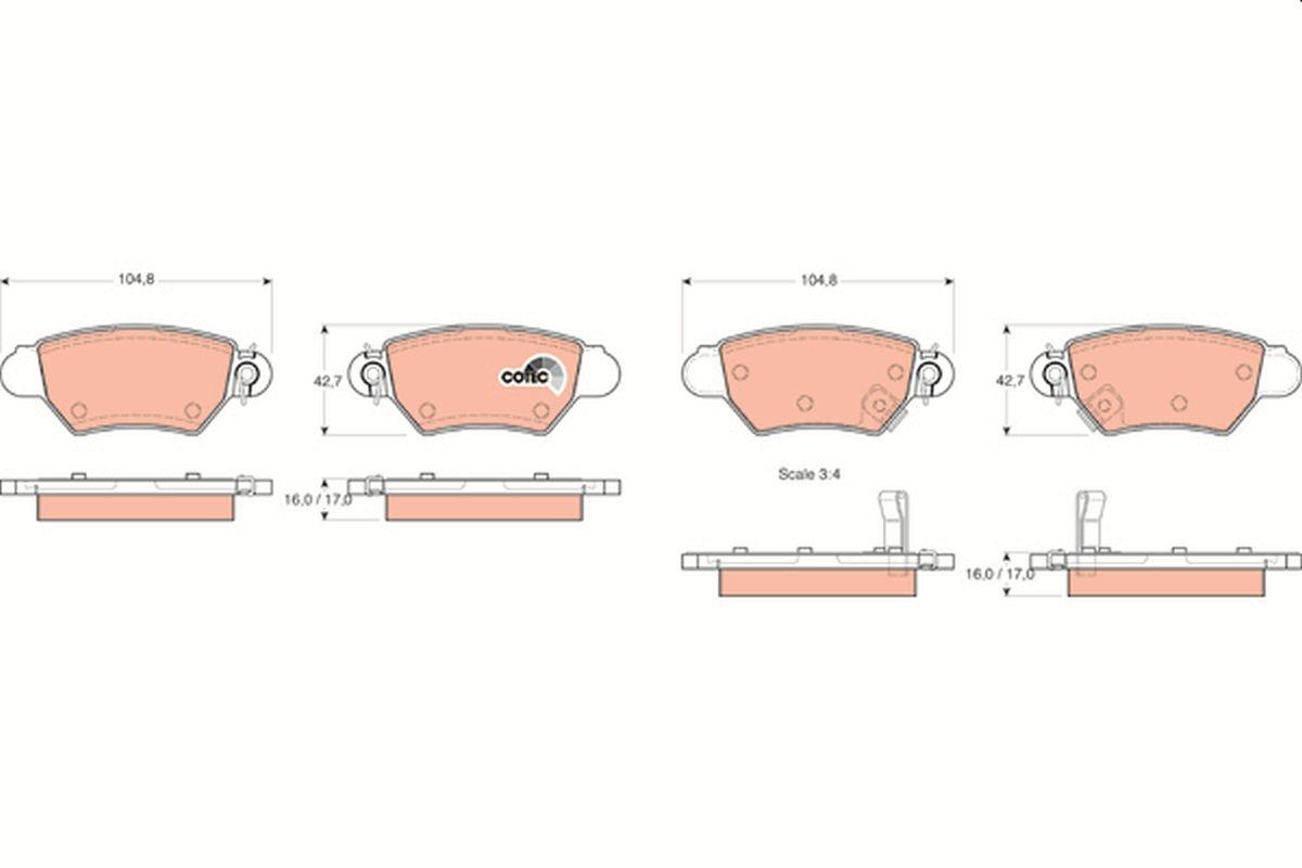 Bremsbelagsatz TRW GDB1352
