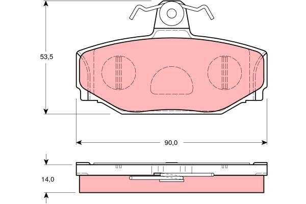 21385 TRW nicht für Verschleißwarnanzeiger vorbereitet Höhe: 53,5mm, Dicke/Stärke: 14mm Bremsbelagsatz, Scheibenbremse GDB1377 günstig kaufen