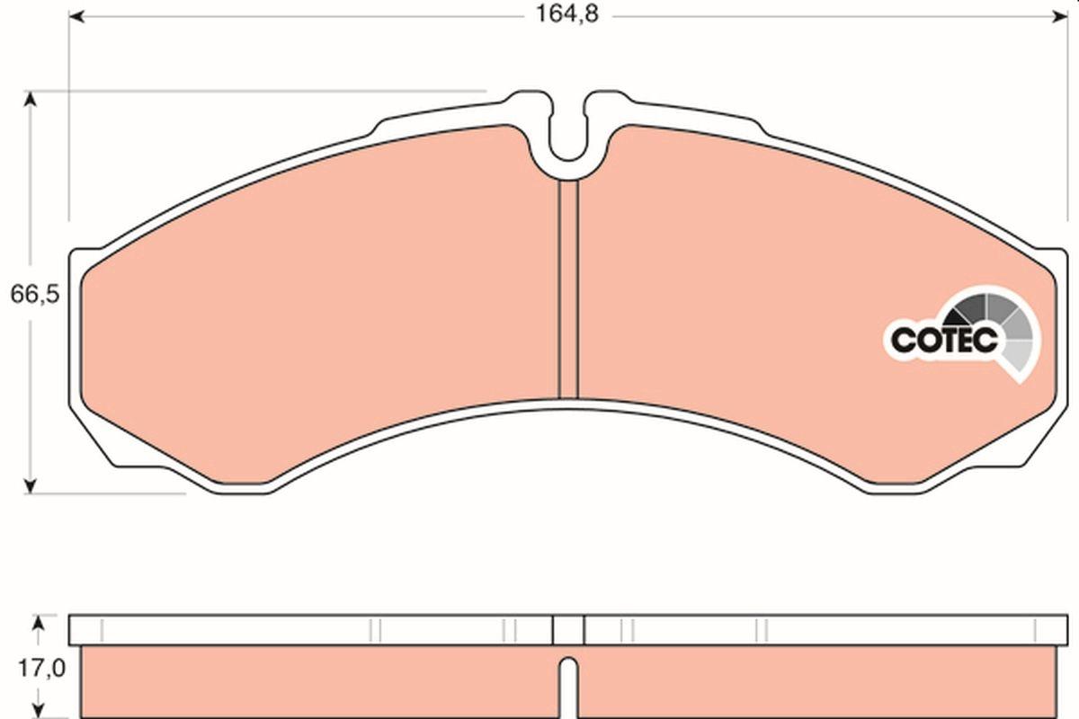 29121 TRW COTEC für Verschleißwarnanzeiger vorbereitet Höhe: 66,5mm, Dicke/Stärke: 17mm Bremsbelagsatz, Scheibenbremse GDB1534 günstig kaufen