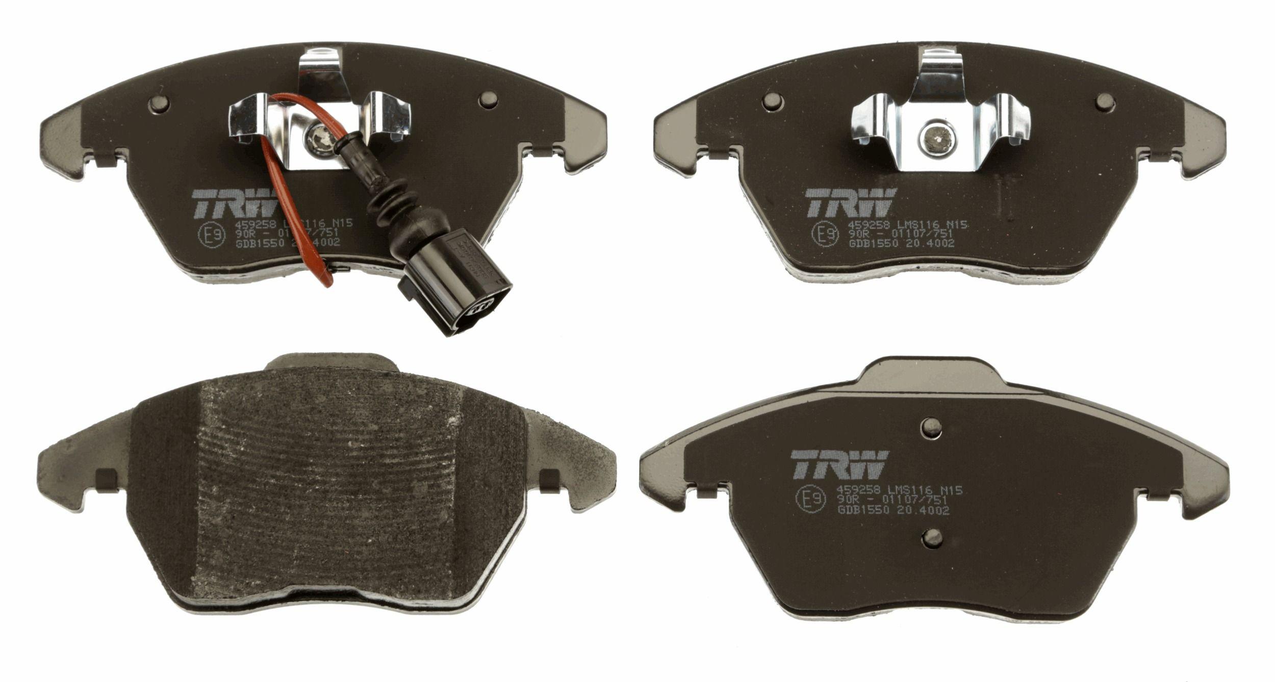 GDB1550 Zestaw klocków hamulcowych, hamulce tarczowe TRW oryginalnej jakości