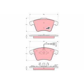 23749 TRW COTEC inkl. Verschleißwarnkontakt Höhe 1: 75,0mm, Höhe 2: 73,2mm, Dicke/Stärke 1: 17,5mm, Dicke/Stärke 2: 18,0mm Bremsbelagsatz, Scheibenbremse GDB1556 günstig kaufen