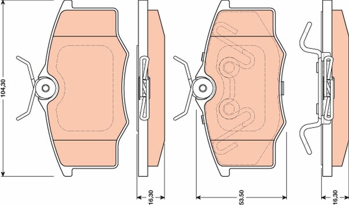 Achetez Kit de plaquettes de frein TRW GDB1759 (Hauteur: 53,5mm, Épaisseur: 16,3mm) à un rapport qualité-prix exceptionnel