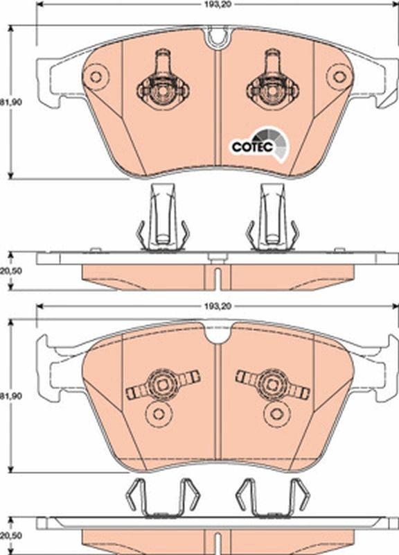 24177 TRW COTEC für Verschleißwarnanzeiger vorbereitet Höhe: 81,9mm, Dicke/Stärke: 20,5mm Bremsbelagsatz, Scheibenbremse GDB1794 günstig kaufen