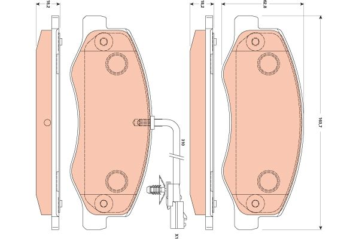 Sada brzdových platničiek kotúčovej brzdy GDB1885 NISSAN NV400 v zľave – kupujte hneď!