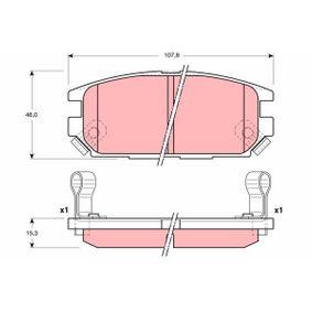 23375 TRW mit akustischer Verschleißwarnung Höhe: 46mm, Dicke/Stärke: 15,3mm Bremsbelagsatz, Scheibenbremse GDB3199 günstig kaufen