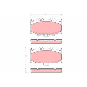 GDB3307 TRW mit akustischer Verschleißwarnung Höhe: 70mm, Dicke/Stärke: 15,5mm Bremsbelagsatz, Scheibenbremse GDB3307 günstig kaufen