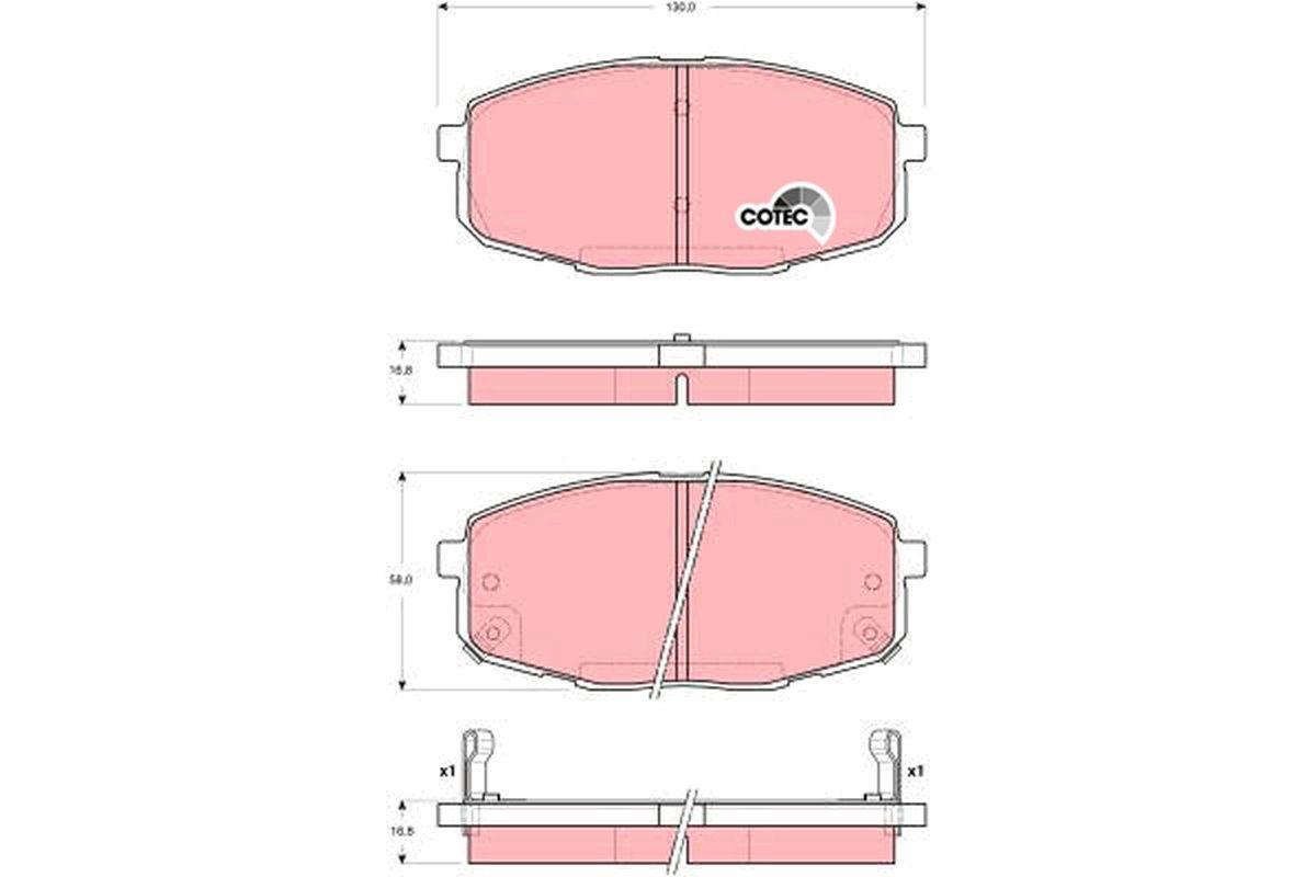 Scheibenbremsbeläge TRW GDB3342