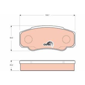 Achetez des Kit de plaquettes de frein, frein à disque TRW GDB3441 à prix modérés