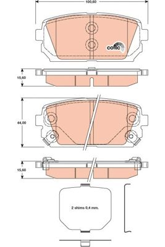 Bremsbelagsatz Scheibenbremse TRW GDB3462