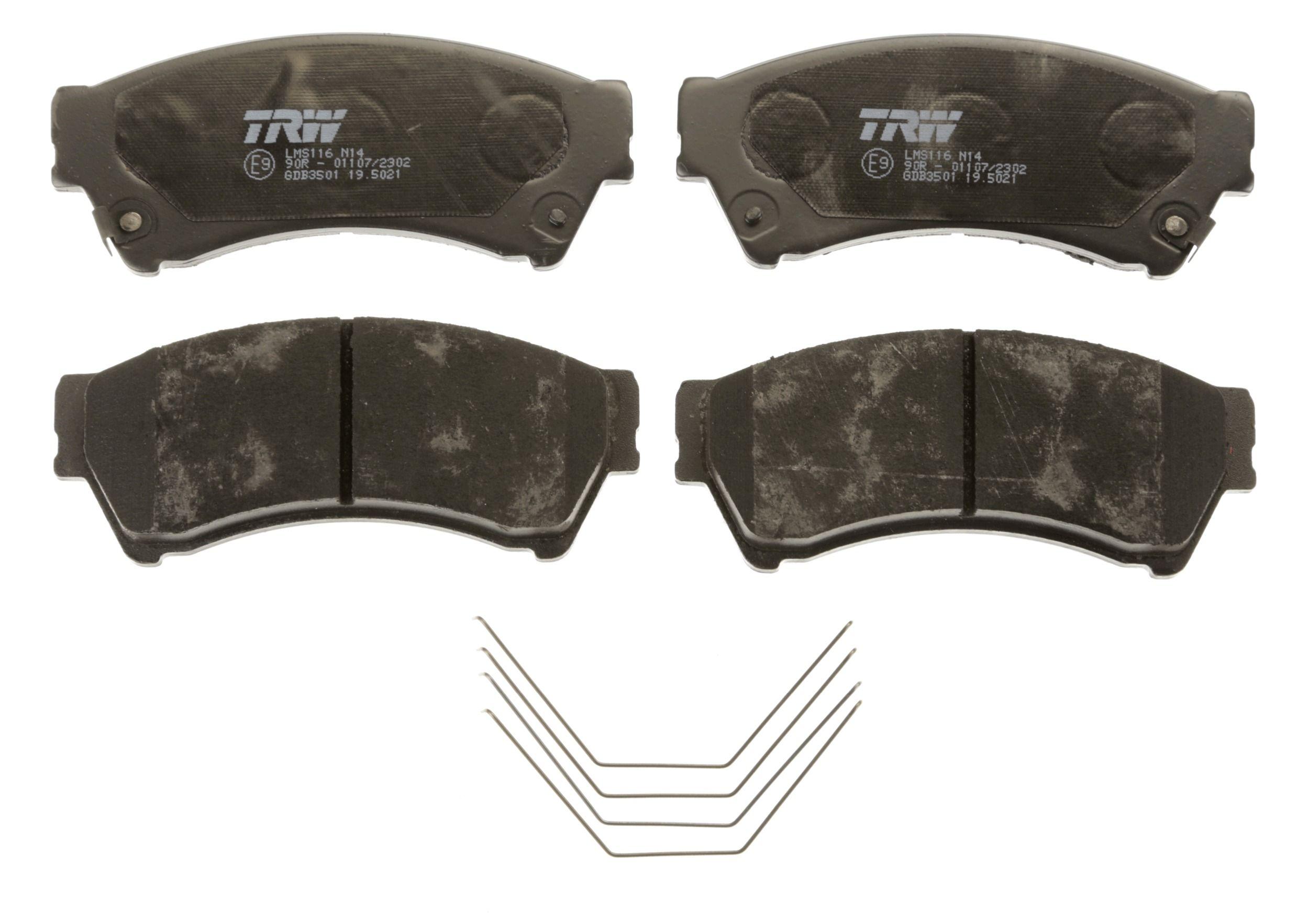 GDB3501 Bremsbelagsatz, Scheibenbremse TRW Test