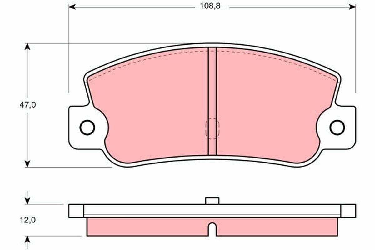 TRW Bremsbelagsatz, Scheibenbremse GDB360