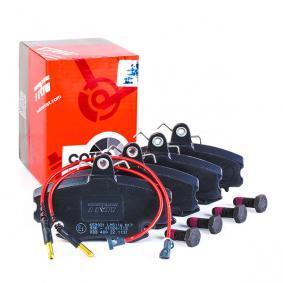 21463 TRW COTEC inkl. Verschleißwarnkontakt, mit Bremssattelschrauben, mit Zubehör Höhe: 64,8mm, Dicke/Stärke: 18,0mm Bremsbelagsatz, Scheibenbremse GDB400 günstig kaufen