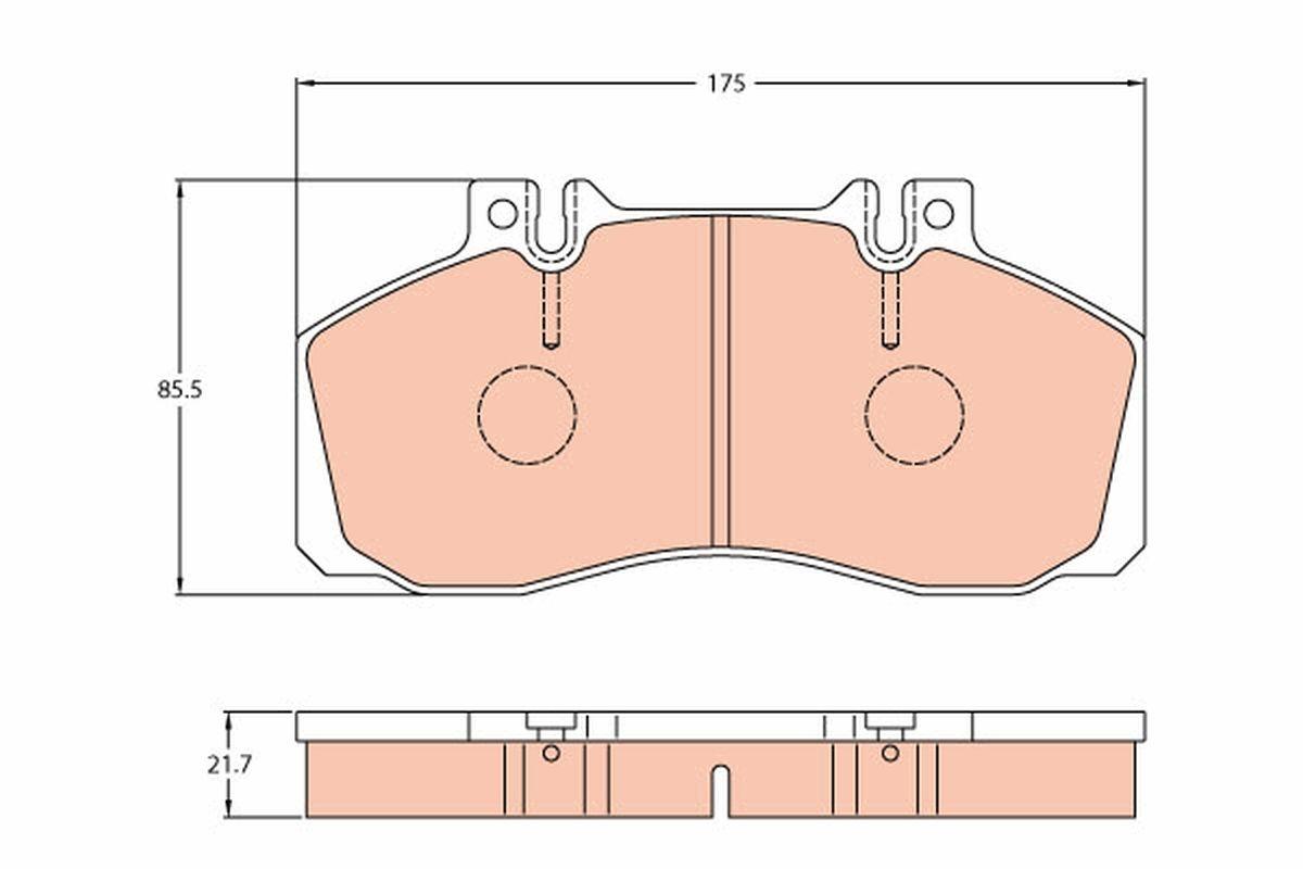 MERCEDES-BENZ VARIO 2021 Bremsklötze - Original TRW GDB5050 Höhe: 85,5mm, Dicke/Stärke: 21,7mm