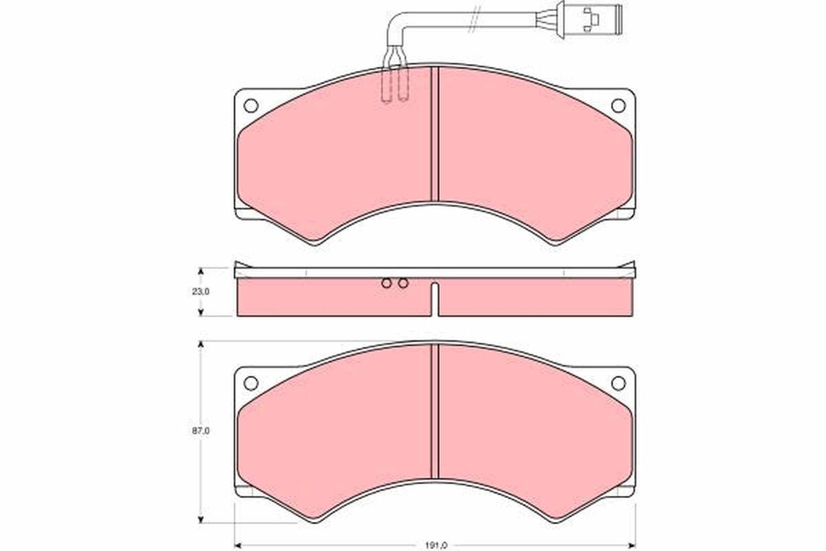 GDB5054 TRW Bremsbelagsatz, Scheibenbremse für DAF F 1000 jetzt kaufen