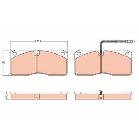 GDB5057 TRW Bremsbelagsatz, Scheibenbremse günstig für VOLVO kaufen