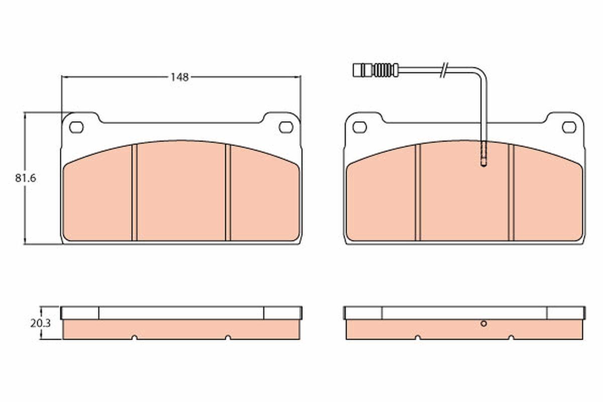 Iegādāties TRW Bremžu uzliku kompl., Disku bremzes GDB5074 kravas auto