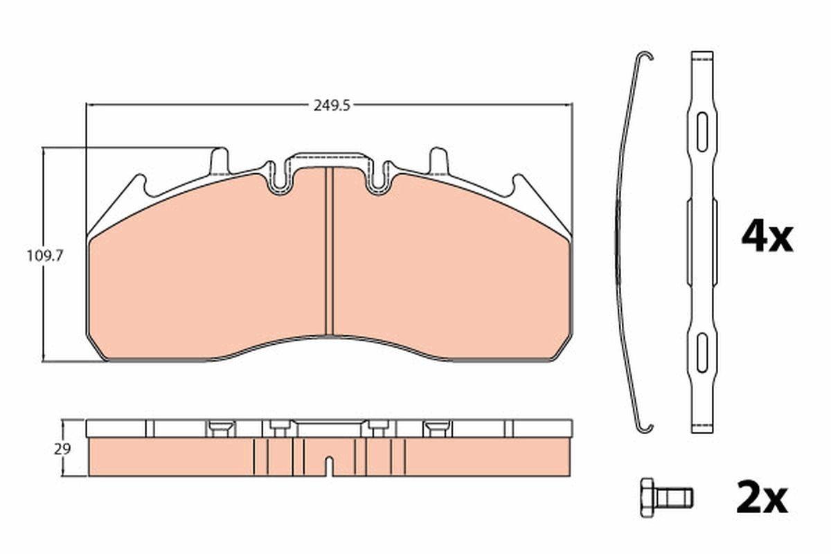 GDB5096 TRW Kit de plaquettes de frein, frein à disque pour VOLVO FE - à acheter dès maintenant