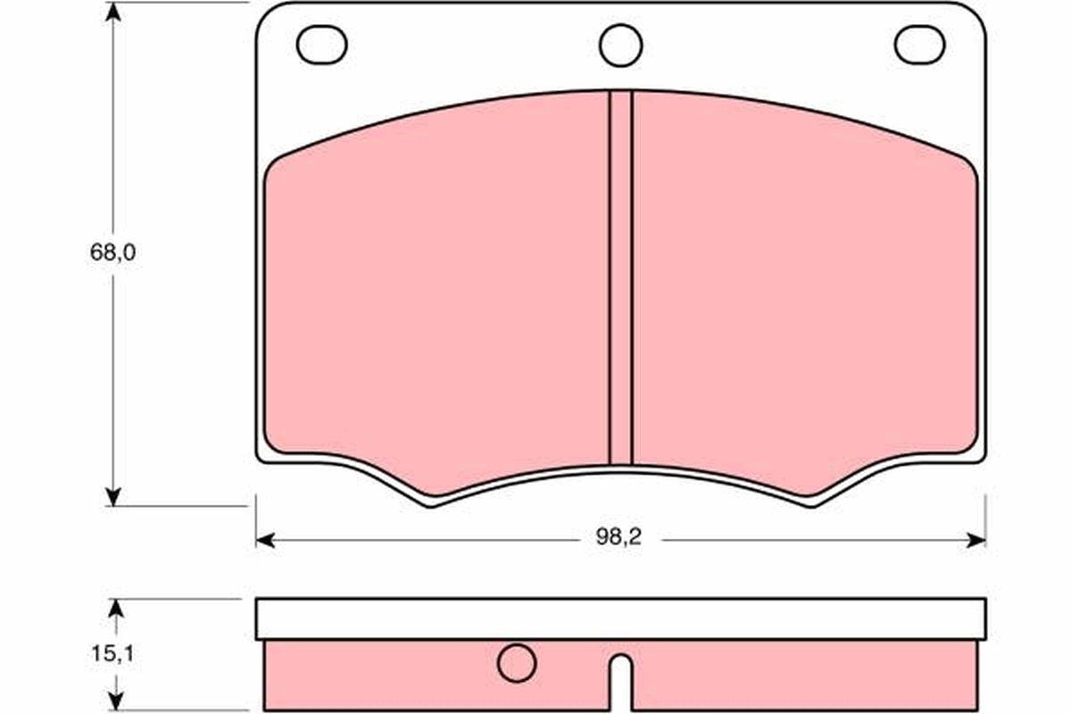 TRW: Original Tuning GDB674 (Höhe: 68mm, Dicke/Stärke: 15,1mm)