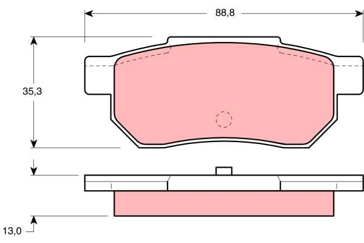TRW Bremsbelagsatz, Scheibenbremse GDB775