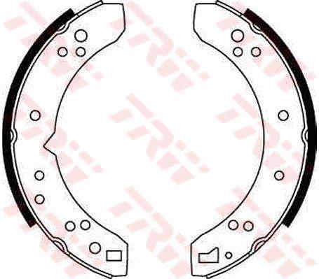 Original PORSCHE Bremsbacken für Trommelbremse GS6070