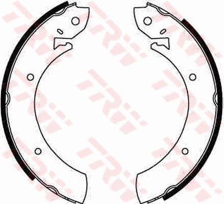 Original MERCEDES-BENZ Bremsbeläge für Trommelbremsen GS6181