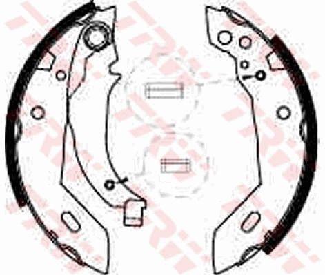 Original PEUGEOT Bremsbeläge für Trommelbremsen GS6228