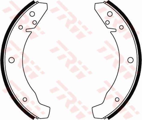 GS8025 Bremsbackensatz TRW in Original Qualität