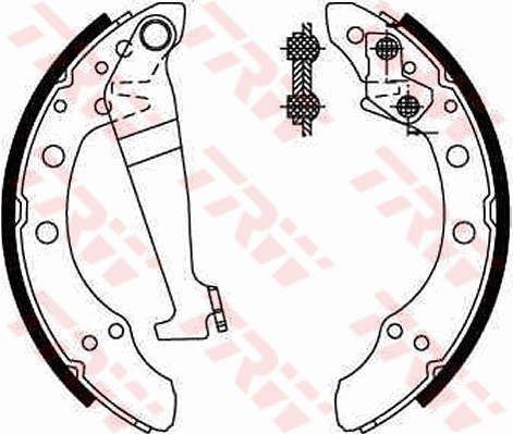 Original AUDI Bremsbackensatz für Trommelbremse GS8092