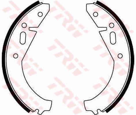 SKODA 100 1976 Bremsbeläge für Trommelbremsen - Original TRW GS8141 Breite: 40mm