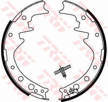 Original DAIHATSU Bremsbeläge für Trommelbremsen GS8170