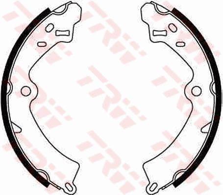 Original SUZUKI Bremsklötze für Trommelbremse GS8278