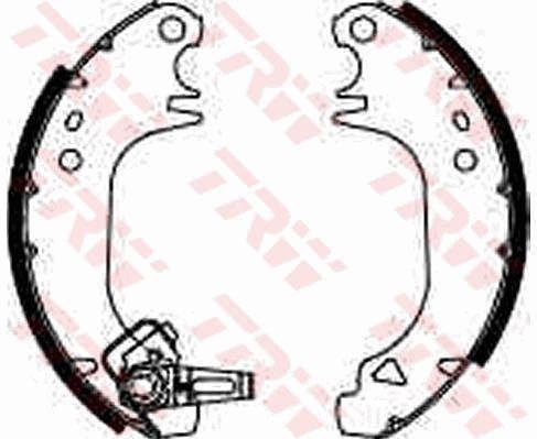 Original PEUGEOT Bremsklötze für Trommelbremse GS8322