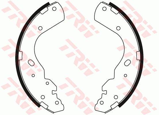 GS8443 Bremsbacken TRW GS8443 - Große Auswahl - stark reduziert