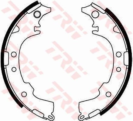 Original DAIHATSU Bremsklötze für Trommelbremse GS8652