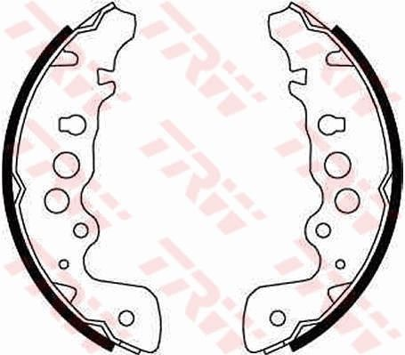 OE Original Bremsbeläge für Trommelbremsen GS8670 TRW