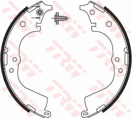 Original VW Bremsbackensatz für Trommelbremse GS8693