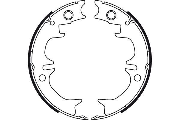 GS8714 Handbremsbeläge TRW in Original Qualität