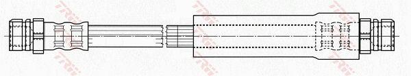 PHA486 Bremsschlauch TRW in Original Qualität