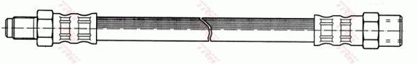 PHB445 TRW Länge: 540mm, Gewindemaß 1: M10x1, Gewindemaß 2: M10x1 Bremsschlauch PHB445 günstig kaufen
