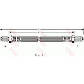 PHC201 TRW Länge: 440mm, Gewindemaß 1: M10x1 Bremsschlauch PHC201 günstig kaufen
