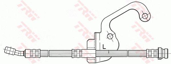 PHD506 TRW Länge: 435mm, Gewindemaß 1: M10x1, Gewindemaß 2: Banjo Bremsschlauch PHD506 günstig kaufen