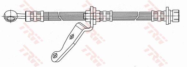 PHD508 TRW Länge: 455mm, Gewindemaß 1: M10x1, Gewindemaß 2: Banjo Bremsschlauch PHD508 günstig kaufen